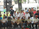 JOvenes sinaloenses jugadores de Ulama en los Juegos y Deportes Autóctonos y Tradicionales 18 Julio 2015