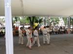 Jovenes Purepechas al terminar su juego durante los XVIII Juegos y Deportes Autóctonos y tradicionales celabrados en San Luis Potosi 17, 18 y 19 Julio 2015.