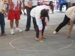 Jovenes mujeres tlaxcaltecas en el  XVIII Encuentro Nacional de Juegos y Deportes Autóctonos y Tradicionales